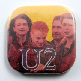 U2 - 'Group Yellow Background' Square Badge